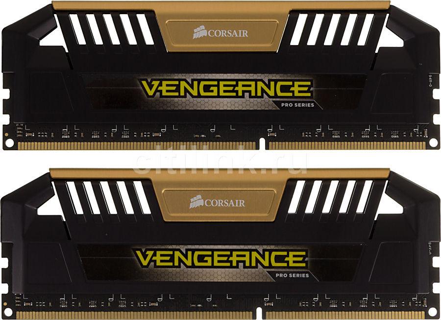Модуль памяти CORSAIR Vengeance Pro CMY16GX3M2A2400C11A DDR3 -  2x 8Гб 2400, DIMM,  Ret