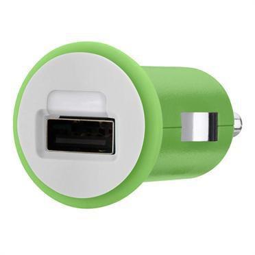Автомобильное зарядное устройство BELKIN F8J018cwGRN,  USB,  1A,  зеленый