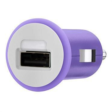 Автомобильное зарядное устройство BELKIN F8J018cwPUR,  USB,  1A,  фиолетовый