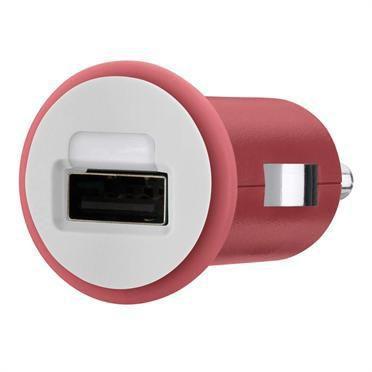Автомобильное зарядное устройство BELKIN F8J018cwRED,  USB,  1A,  красный