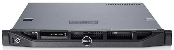Сервер Dell PE R210II E3-1220V2/4Gb 2RLVUD 1.6/ SATA 2x500Gb 7.2K 3.5