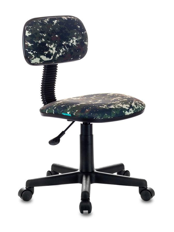 Кресло детское БЮРОКРАТ CH-201NX, на колесиках, ткань, зеленый [ch-201nx/military]