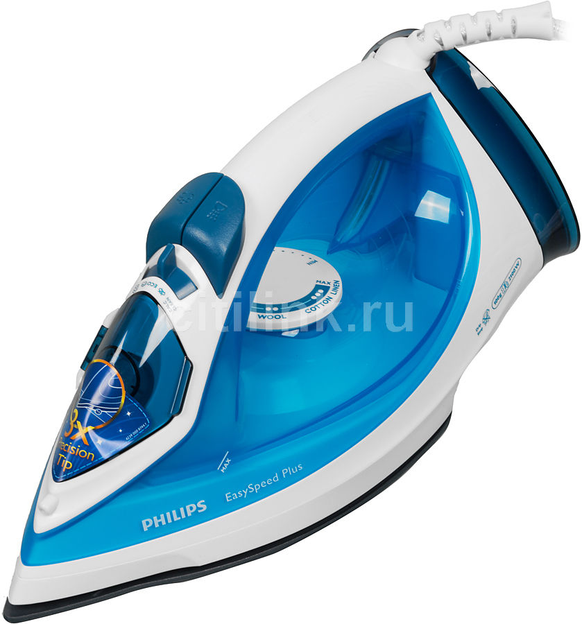 Утюг PHILIPS GC2040/70,  2100Вт,  синий