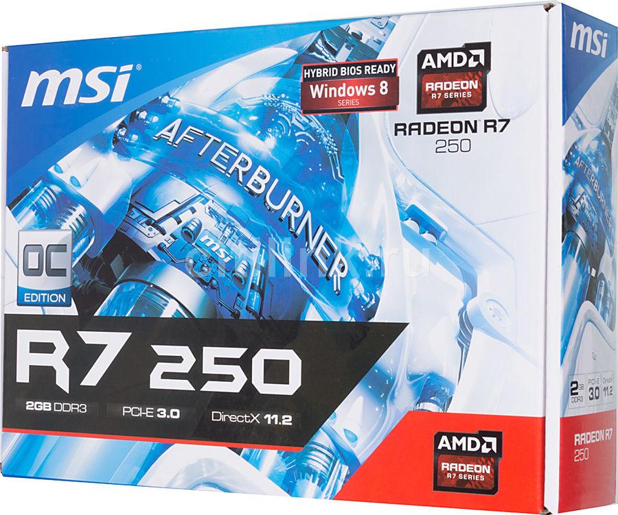 Видеокарта MSI AMD Radeon R7 250 , R7 250 2GD3 OC
