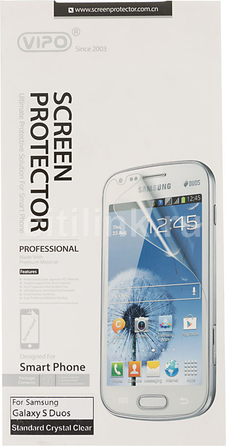 Защитная пленка VIPO для Samsung Galaxy S Duos,  прозрачная, 1 шт