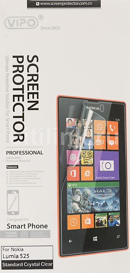 Защитная пленка VIPO для Nokia Lumia 525,  прозрачная, 1 шт
