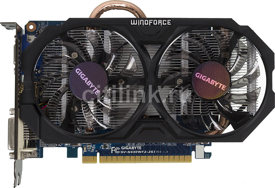 Видеокарта GIGABYTE GeForce GTX 650,  2Гб, GDDR5, OC,  Ret [gv-n650wf2-2gi]
