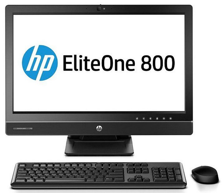 Моноблок HP EliteOne 800 G1, Intel Core i5 4570S, 4Гб, 500Гб, Intel HD Graphics 4600, DVD-RW, Windows 7 Professional, черный [e5b26es]