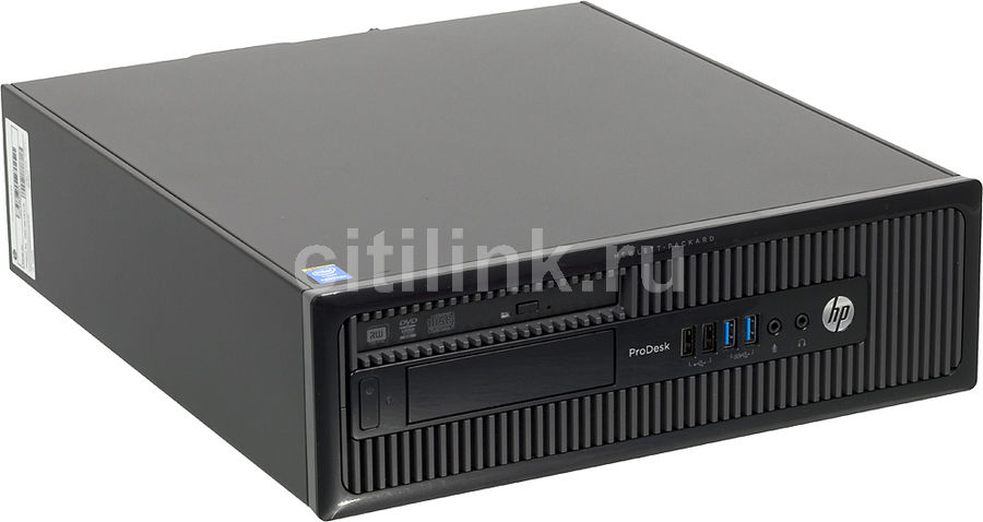 Компьютер  HP ProDesk 400 G1,  Intel  Pentium  G3220,  DDR3 4Гб, 500Гб,  Intel HD Graphics,  DVD-RW,  Free DOS,  черный [d5s19ea]