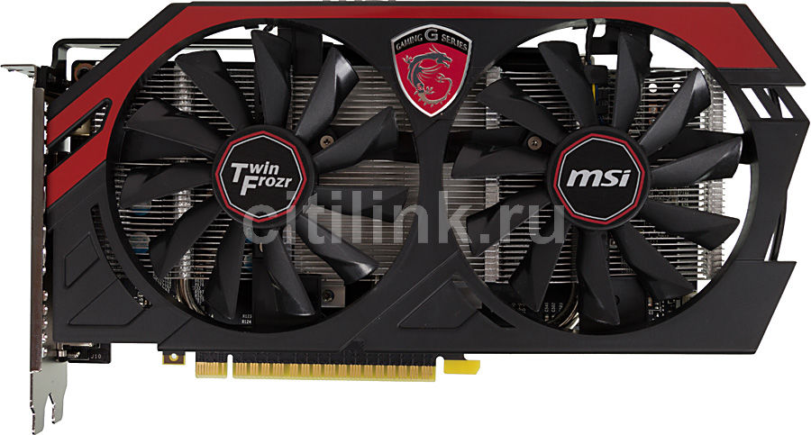 Видеокарта MSI GeForce GTX 750Ti,  N750Ti TF 2GD5/OC,  2Гб, GDDR5, OC,  Ret