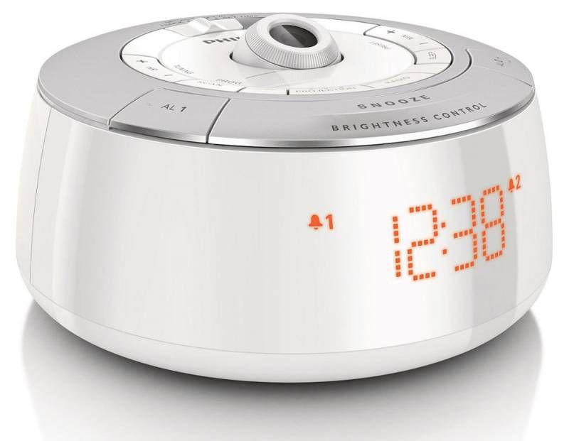 Радиобудильник PHILIPS AJ 5030, оранжевая подсветка,  белый