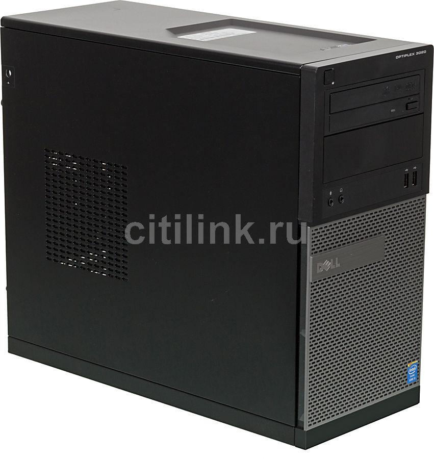Компьютер  DELL Optiplex 3020 MT,  Intel  Core i3  4130,  DDR3 4Гб, 500Гб,  Intel HD Graphics 4400,  DVD-RW,  Windows 7 Professional,  черный и серый [ca003d3020mt8ru]