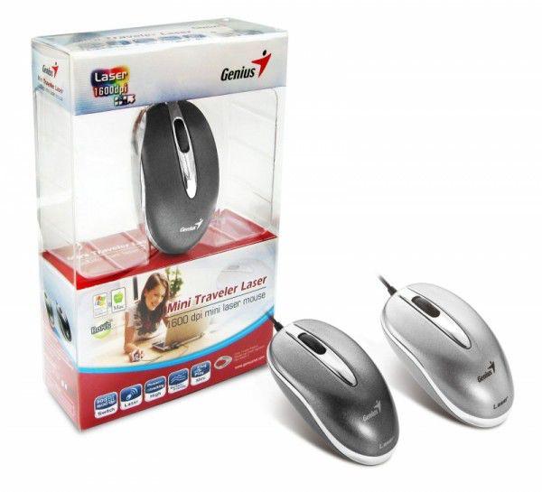 Мышь GENIUS Mini Traveler лазерная проводная USB, черный [31011385101]