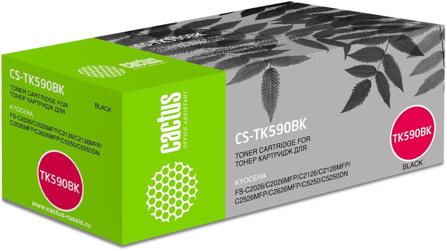 Картридж CACTUS CS-TK590BK черный