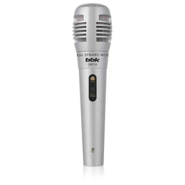 Микрофон BBK CM114,  серебристый