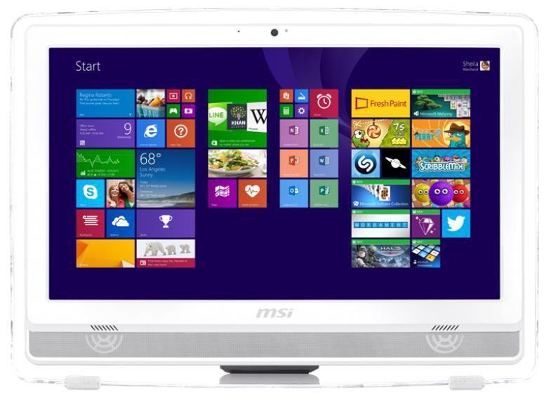 Моноблок MSI AE222G-046, Intel Core i3 4130, 4Гб, 500Гб, nVIDIA GeForce GT740M - 2048 Мб, DVD-RW, Windows 7 Home Premium, белый и серебристый [9s6-ac1112-046]