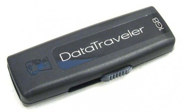 Флешка USB KINGSTON DataTraveler 100 1Гб, USB2.0, черный [dt100/1gb]