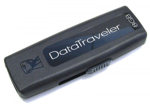 Флешка USB KINGSTON DataTraveler 100 8Гб, USB2.0, черный [dt100/8gb]