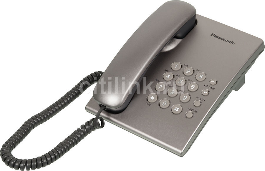 Проводной телефон PANASONIC KX-TS2350RUS, серебристый