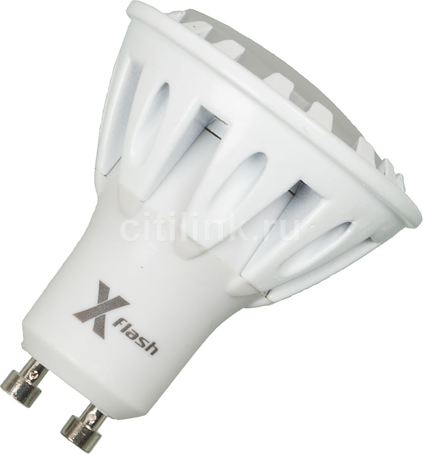 Лампа X-FLASH Spotlight GU10-6W-3K-220V, 6Вт, 350lm, 50000ч,  3000К, GU10,  1 шт. [43453]