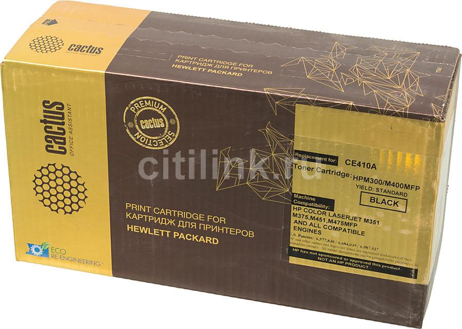 Картридж CACTUS CSP-CE410A PREMIUM,  черный