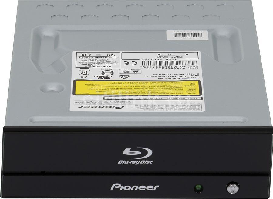 Оптический привод Blu-Ray PIONEER BDR-S09XLT, внутренний, SATA, черный,  Ret