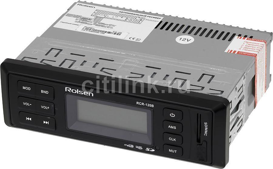 Автомагнитола ROLSEN RCR-120B,  USB,  SD/MMC