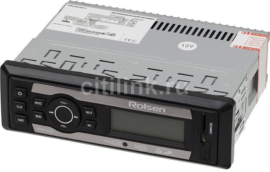 Автомагнитола ROLSEN RCR-130B,  USB,  SD/MMC