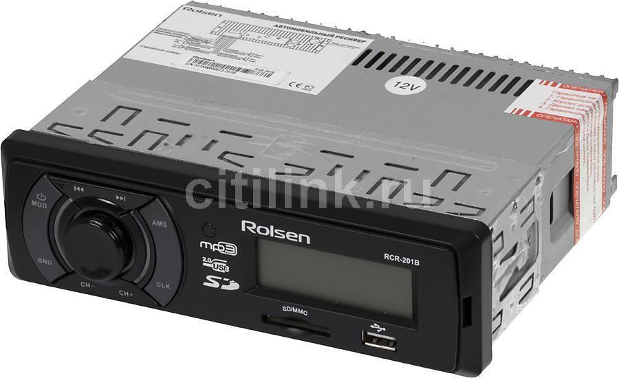 Автомагнитола ROLSEN RCR-201B,  USB,  SD/MMC