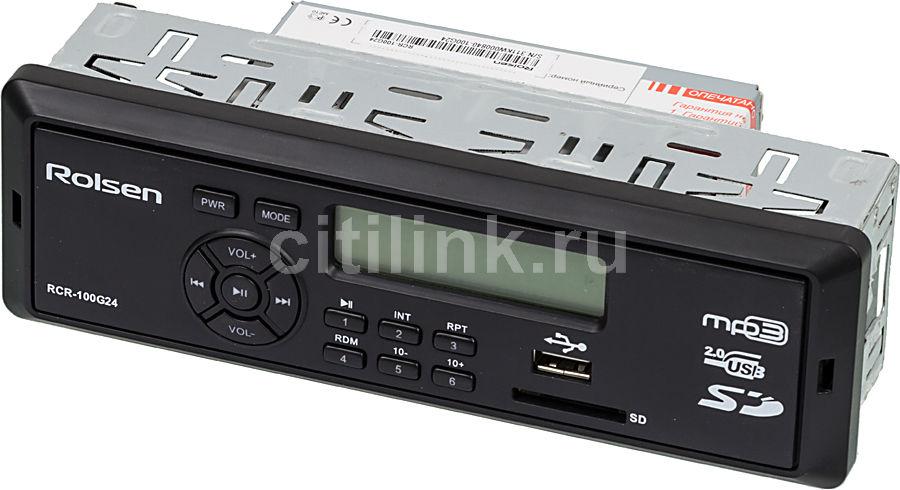 Автомагнитола ROLSEN RCR-100G24,  USB,  SD/MMC