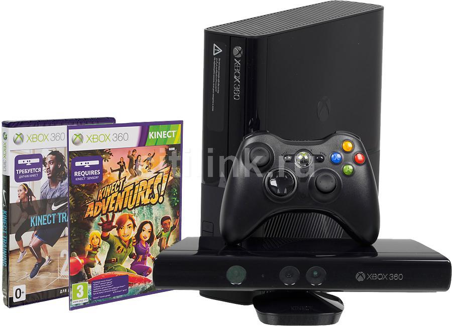 Игровая консоль MICROSOFT Xbox 360 E N6V-00012, черный