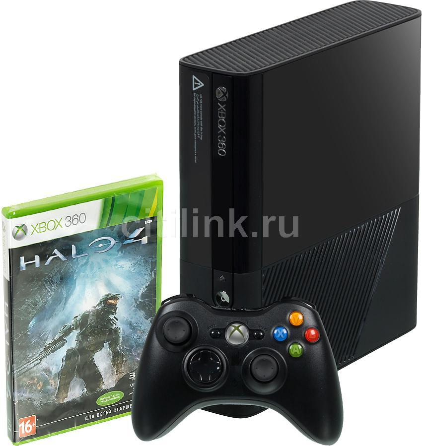Игровая консоль MICROSOFT Xbox 360 E L9V-00012 + HND-00063, черный