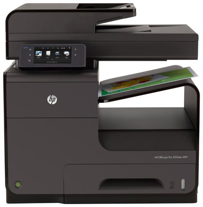 МФУ HP OfficeJet Pro X576dw, A4, цветной, струйный, черный [cn598a]