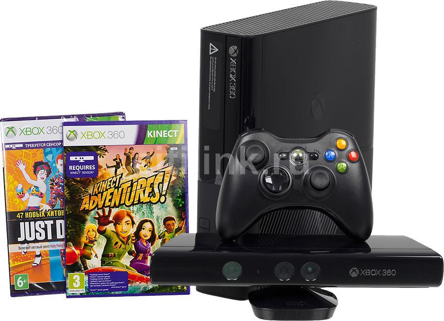 Игровая консоль MICROSOFT Xbox 360 5DX-00008+G2W-00019, черный