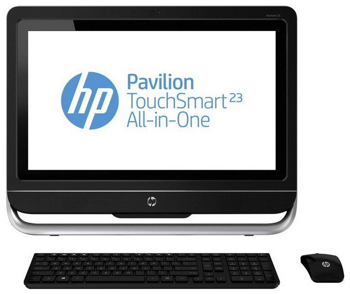 Моноблок HP Pavilion TouchSmart 23-f306er, Intel Pentium Dual-Core G2030, 4Гб, 500Гб, nVIDIA GeForce 710A - 1024 Мб, DVD-RW, Windows 8, черный и серебристый [d7e63ea]