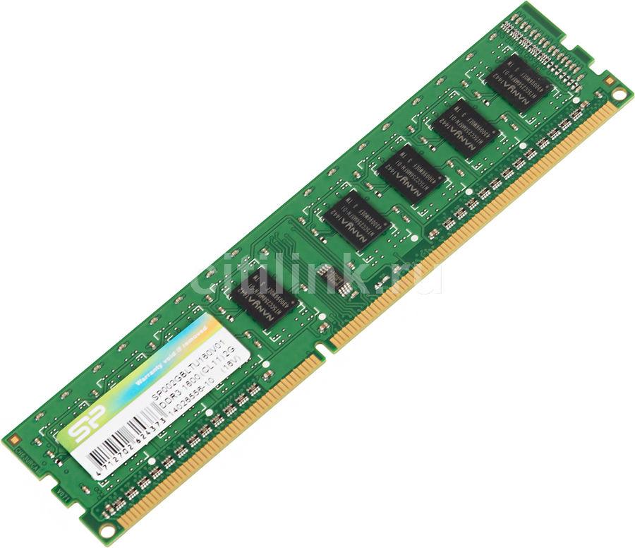 Модуль памяти SILICON POWER SP002GBLTU160 DDR3 -  2Гб 1600, DIMM,  Ret