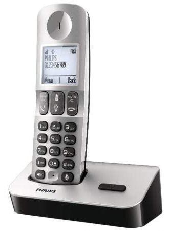 Радиотелефон PHILIPS D5001S/51,  серебристый