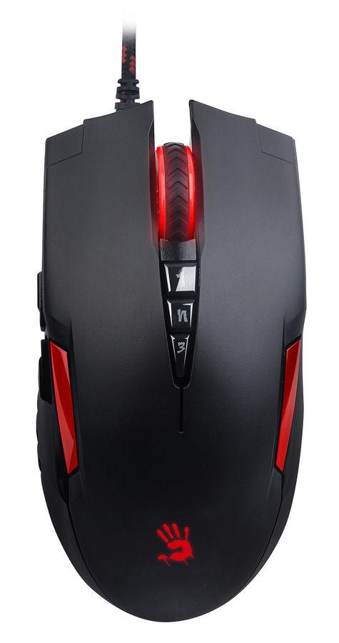 Мышь A4 Bloody V2M, игровая, оптическая, проводная, USB, черный и красный