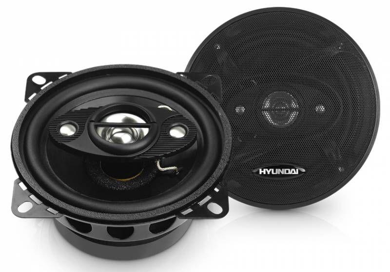 Колонки автомобильные HYUNDAI H-CSW404,  коаксиальные,  100Вт