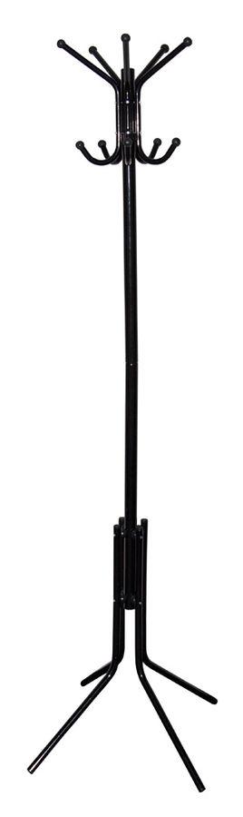 Вешалка напольная Бюрократ CR-002/BLACK черный основание ножки наконечники черный крючки двойные