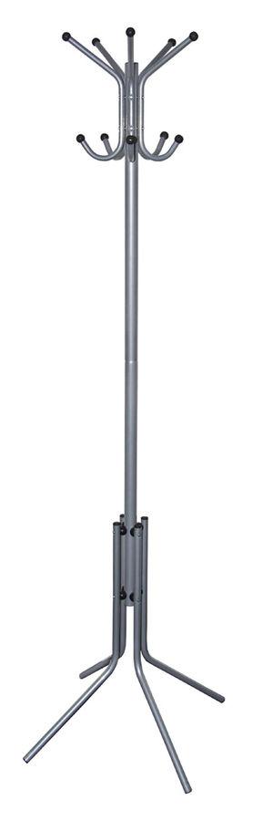 Вешалка напольная Бюрократ CR-002/GRAY серый основание ножки наконечники черный крючки двойные