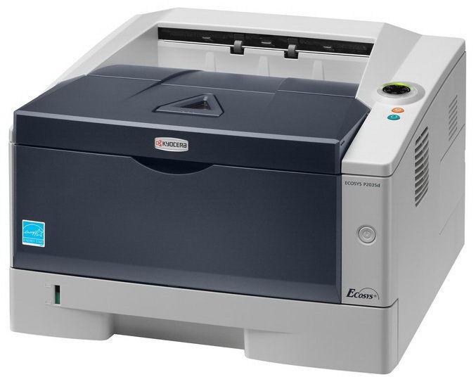 Принтер KYOCERA P2035DN лазерный, цвет:  серый [870b61102pg3nl2 / 1102pg3nl0]