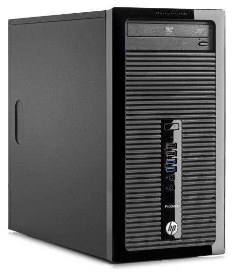 Компьютер  HP ProDesk 400 G1,  Intel  Core i3  4130,  DDR3 4Гб, 1000Гб,  AMD Radeon HD 8490 - 1024 Мб,  DVD-RW,  Free DOS,  черный [d5u34es]