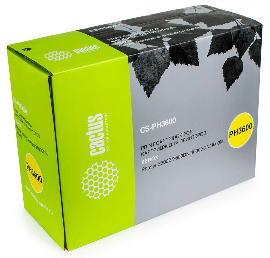 Картридж CACTUS CS-PH3600 106R01371,  черный