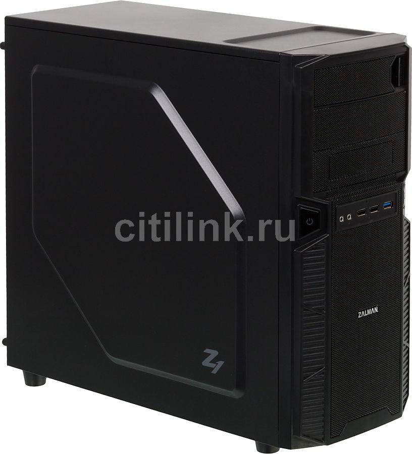 Корпус ATX ZALMAN ZM-Z1, Midi-Tower, без БП,  черный
