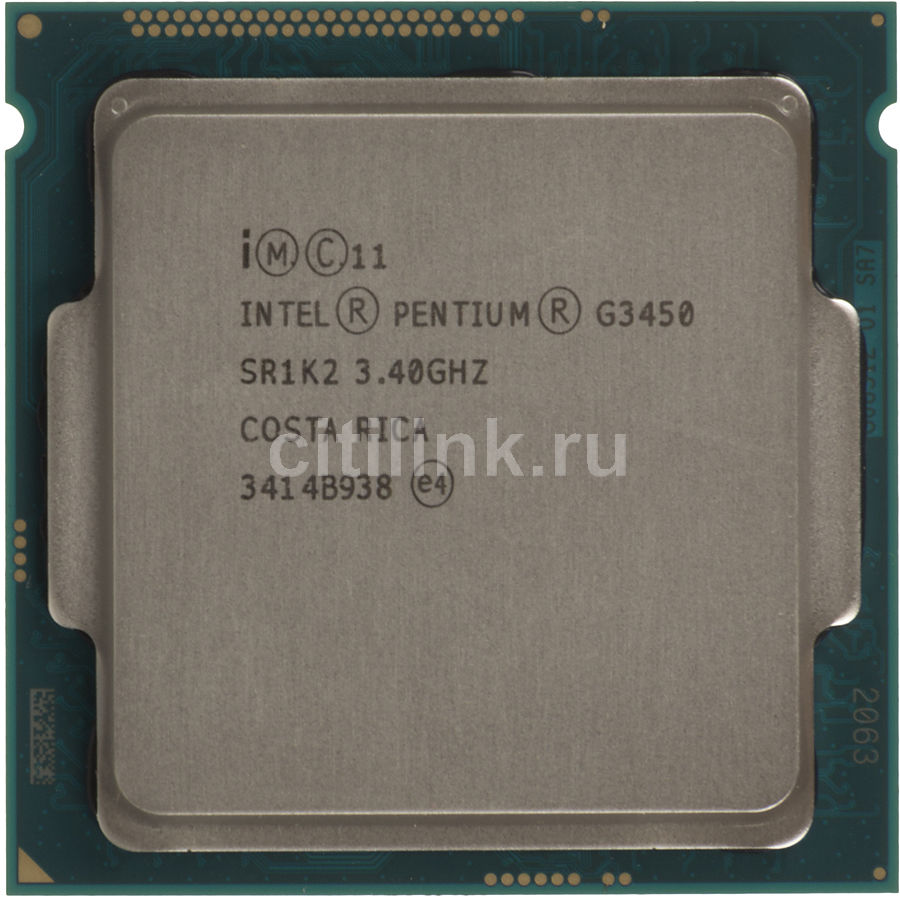 Процессор INTEL Pentium G3450, LGA 1150 * OEM [cm8064601482505s r1k2]