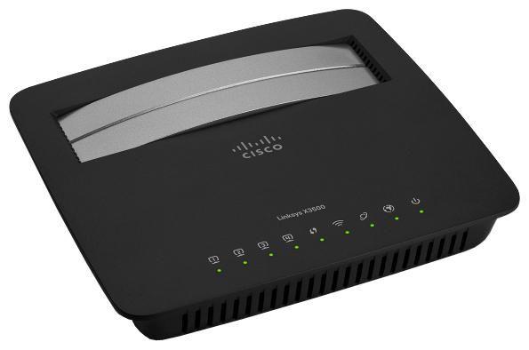 Беспроводной маршрутизатор LINKSYS X3500-EE,  ADSL2+,  черный