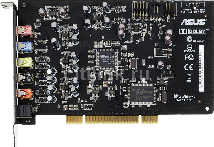 Звуковая карта PCI ASUS Xonar D-KARA,  5.1, Ret