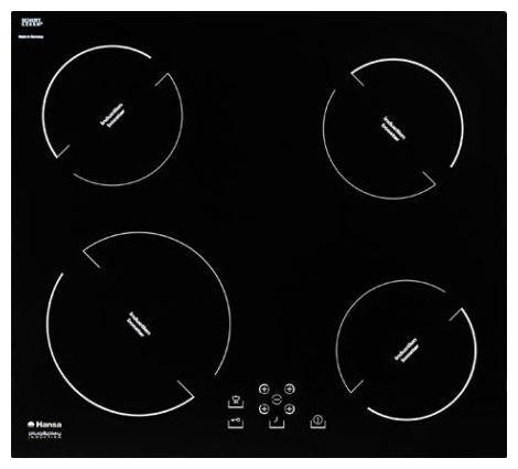 Варочная поверхность HANSA BHI64383030,  индукционная,  независимая,  черный