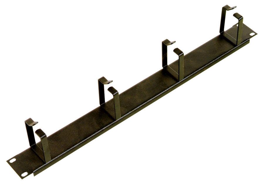 Кабельный органайзер Горизонтальный ЦМО (ГКО-4.62-9005) односторонний кольца 1U шир.:19